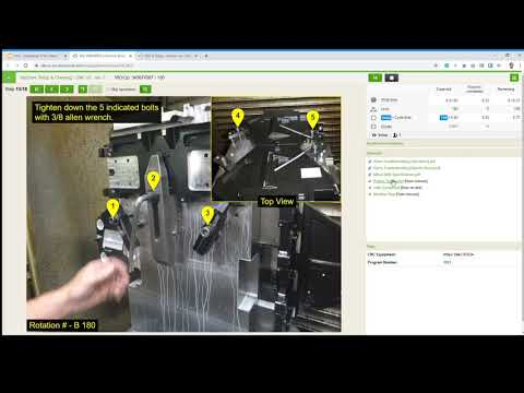Digital Work Instructions For Machine Setup And Cleaning Guidebook