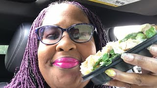 Car MukBang | Wendy's Side Caesar Salad | Eating Healthy | Weight Loss Journey | Crunch | Smacking