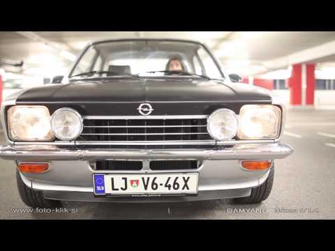 Opel Kadett C 1974 - garage drive and drift filmed with Samyang Lens