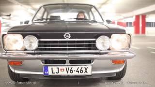 Opel Kadett C 1974 - garage drive and drift filmed with Samyang Lens