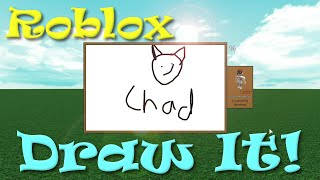 ROBLOX | Draw It! | Scribble, Cone, Taco, Chad | SallyGreenGamer