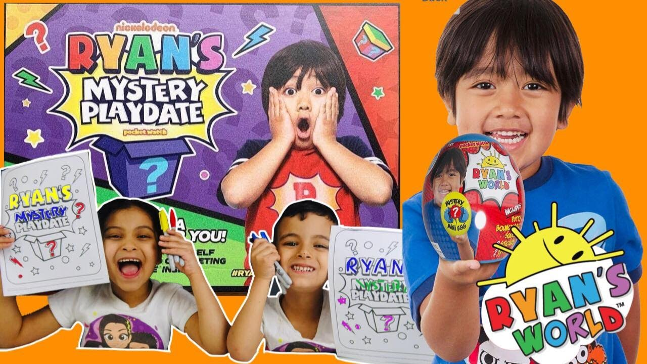 ryan's toy review mystery playdate 3 marker challenge