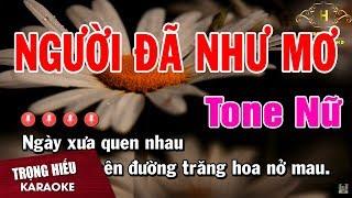 Karaoke Người Đã Như Mơ Tone Nữ Nhạc Sống   Trọng Hiếu