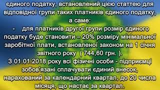 До уваги платників єдиного податку першої та другої груп міста Бердичева!