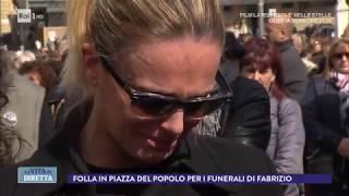 La Gente Comune Per L'ultimo Saluto A Fabrizio Frizzi - La Vita In Diretta 28/03/2018