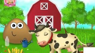 NEW мультик онлайн для девочек—Счастливая Пу на ферме—Игры для детей