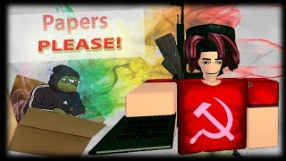 Jumping The Border In Roblox (Papers Please)