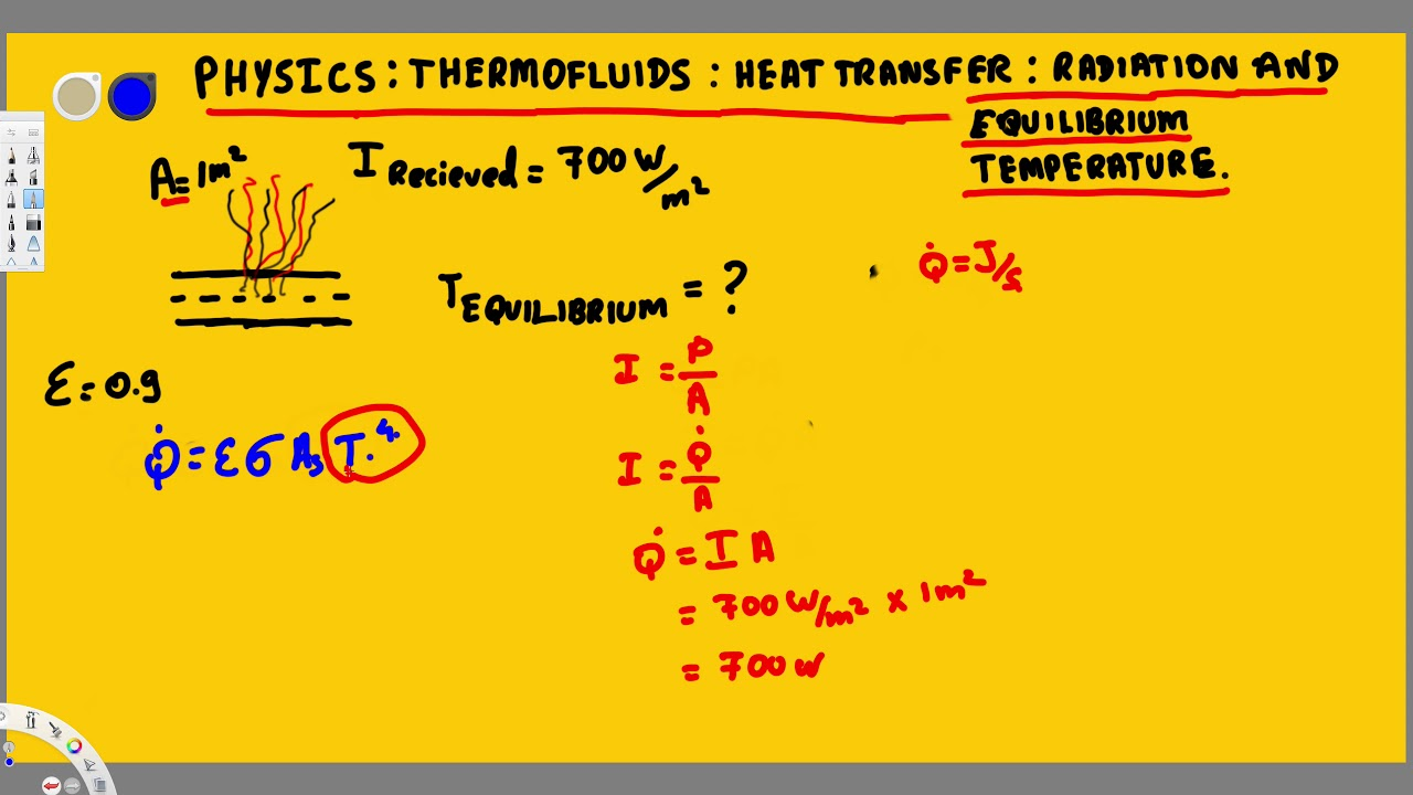 Physics - Thermofluids : Radiation : Heat Transfer : Radiation And  Equilibrium Temperature