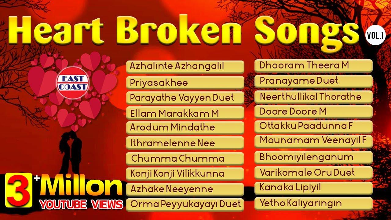 List of broken hearted songs