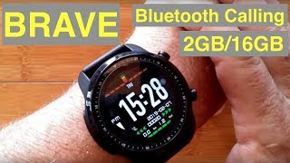 KOSPET BRAVE 4G Android 6 IP68 Waterproof 2G+16G Bluetooth Calling Smartwatch: Unboxing and 1st Look