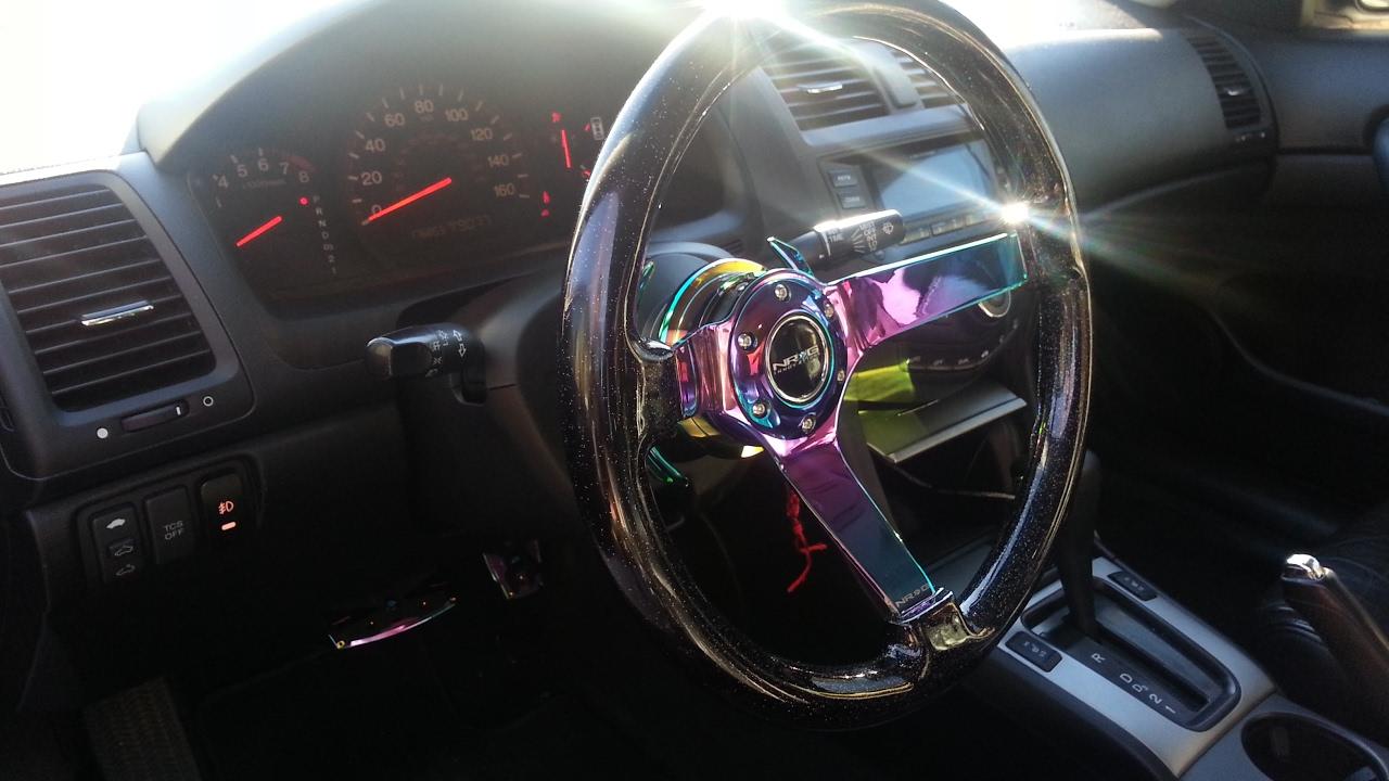 "Gen Honda Com >> NRG ""Neochrome"" Steering Wheel with NRG Quick Release ..."