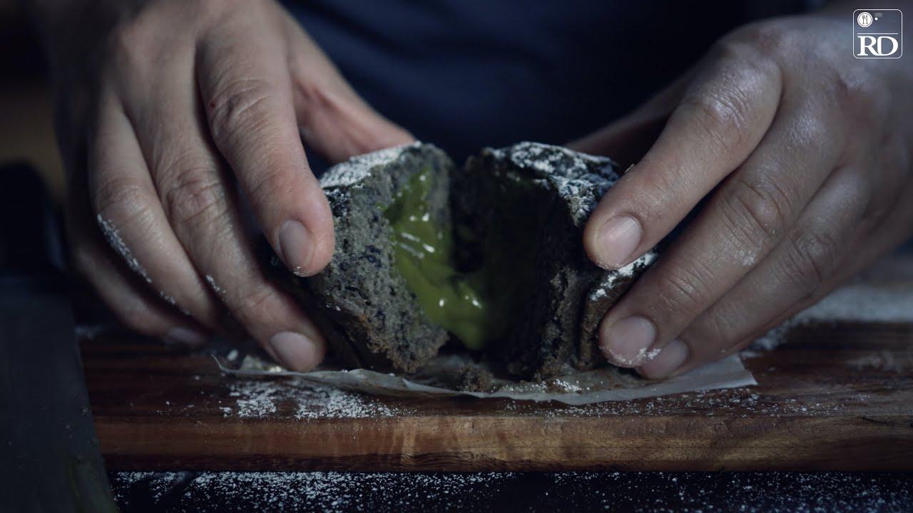 Black Sesame & Green Tea Lava Muffin | Bánh Muffin Mè Đen | Rick Duong | ASMR Cooking