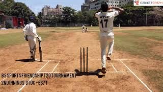 MUCC Vs DTDC - BS Sports Friendship T20 Cricket Tournament 2021 In Mumbai