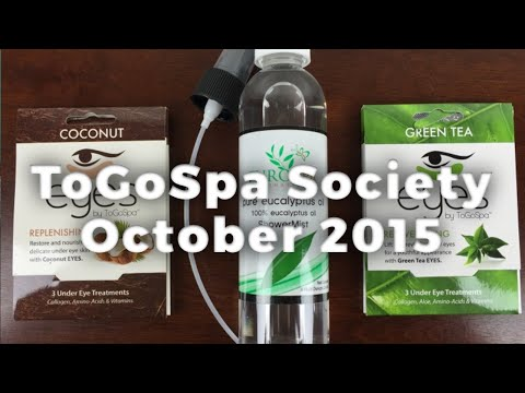 ToGoSpa Society October 2015 Unboxing + Coupon