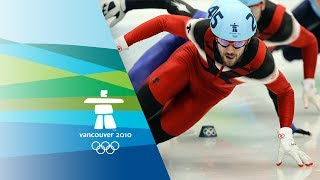 Men 500M Short Track Speed Skating Final - Vancouver 2010 Winter Olympic Games