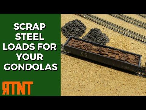 How to Build Scrap Steel Loads for Model Railroad Gondolas