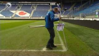Snein pompeblêde-cornerflagen by sc Hearrenfean - Feyenoord