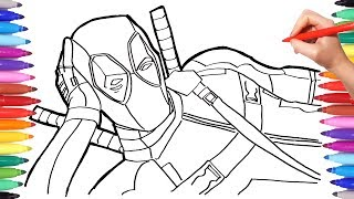 MARVEL DEADPOOL Coloring Pages | How to Draw Deadpool | Superheroes Coloring Book for Kids