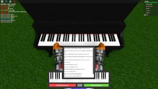 Playing The River Flows In You Roblox Virtual Piano
