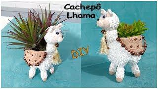 Cachepô Ihama Feita com Garrafa PET e Porcelana