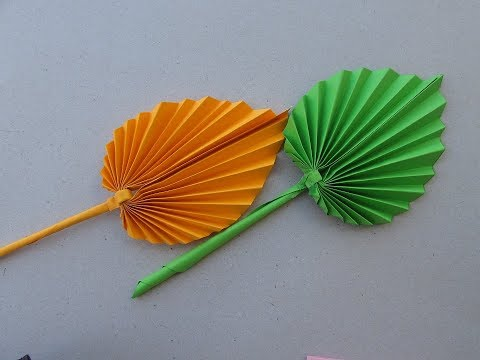 How to make Real Origami Leaves ? Easy Craft & Tutorial | Cindy DIY