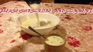 How To Make Tarator Soup.  Cool Cucumber Soup Healthy Refreshing Greek Yogurt Soup