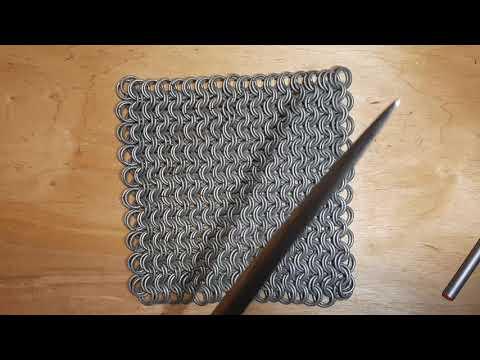 Плетение кольчуги 8 в 2 ( 2 часть )