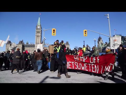 Scenes from Parliament Hill United We Roll convoy rally
