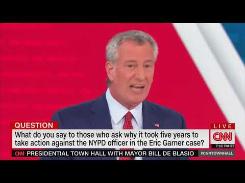 Bill de Blasio badgered by police brutality protester during CNN town hall