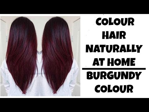 How to colour Hair at home naturally| Burgundy or Maroon Colour | Ramsha Sultan
