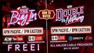 LIVE - AEW Double or Nothing Pre Show: The Buy In - Sat May 25th - 7e / 4p