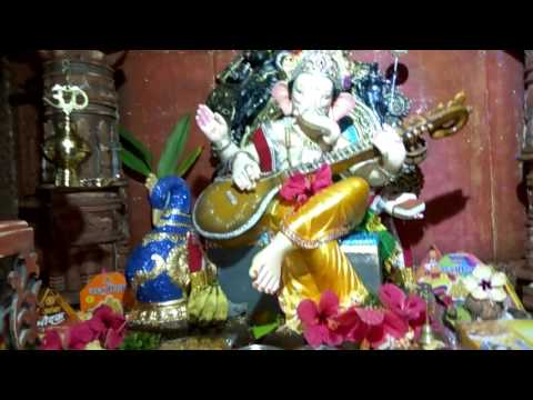 Home Ganpati Decoration 2016 by Aniket Patkar...decoration Structure:(Sun Temple,Gujarat(modhera))