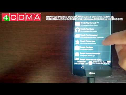 LG GOOGLE ACCOUNT BYPASS no otg/no dongle LG Android 6.0 (Unknown Sources Blocked) NEW Method!!!
