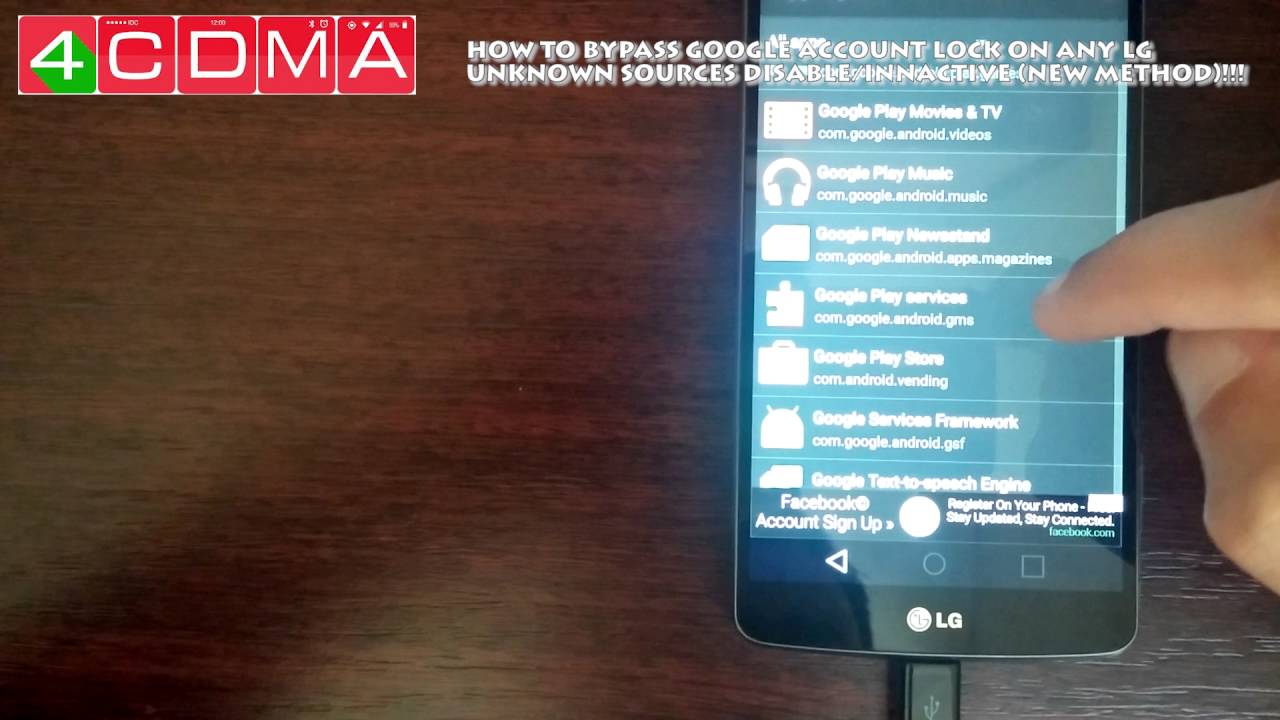 LG GOOGLE ACCOUNT BYPASS no otg/no dongle LG Android 6 0 (Unknown Sources  Blocked) NEW Method!!! by 4CDMA