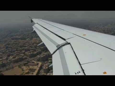 Landing at cairo airport - Lufthansa A320 + Beautiful mountain view - 1080p