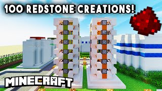 REDSTONE HOUSE (100+ Redstone Mechanisms/Redstone Creations) - PART 2