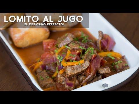 LOMITO AL JUGO - COMIDA PERUANA | RECETA DE ACOMER.PE