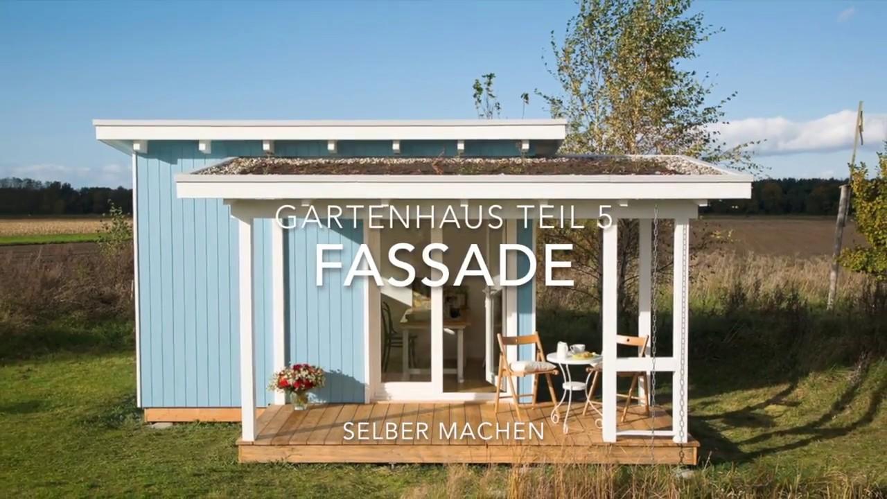 Gartenhaus selber bauen: Die Fassade wird verkleidet