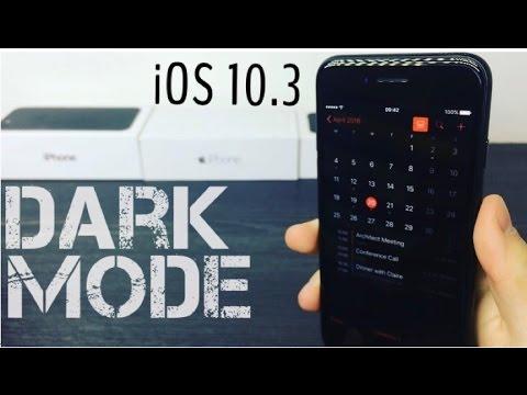 Dark Mode For iOS 10 - Theatre Mode in iOS 10.3 Beta