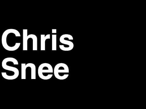 How to Pronounce Chris Snee New York NY Giants NFL Football Touchdown TD Tackle Hit Yard Run