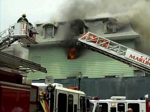 Marlborough MA, Downtown fire, June 26, 2010 vid 1
