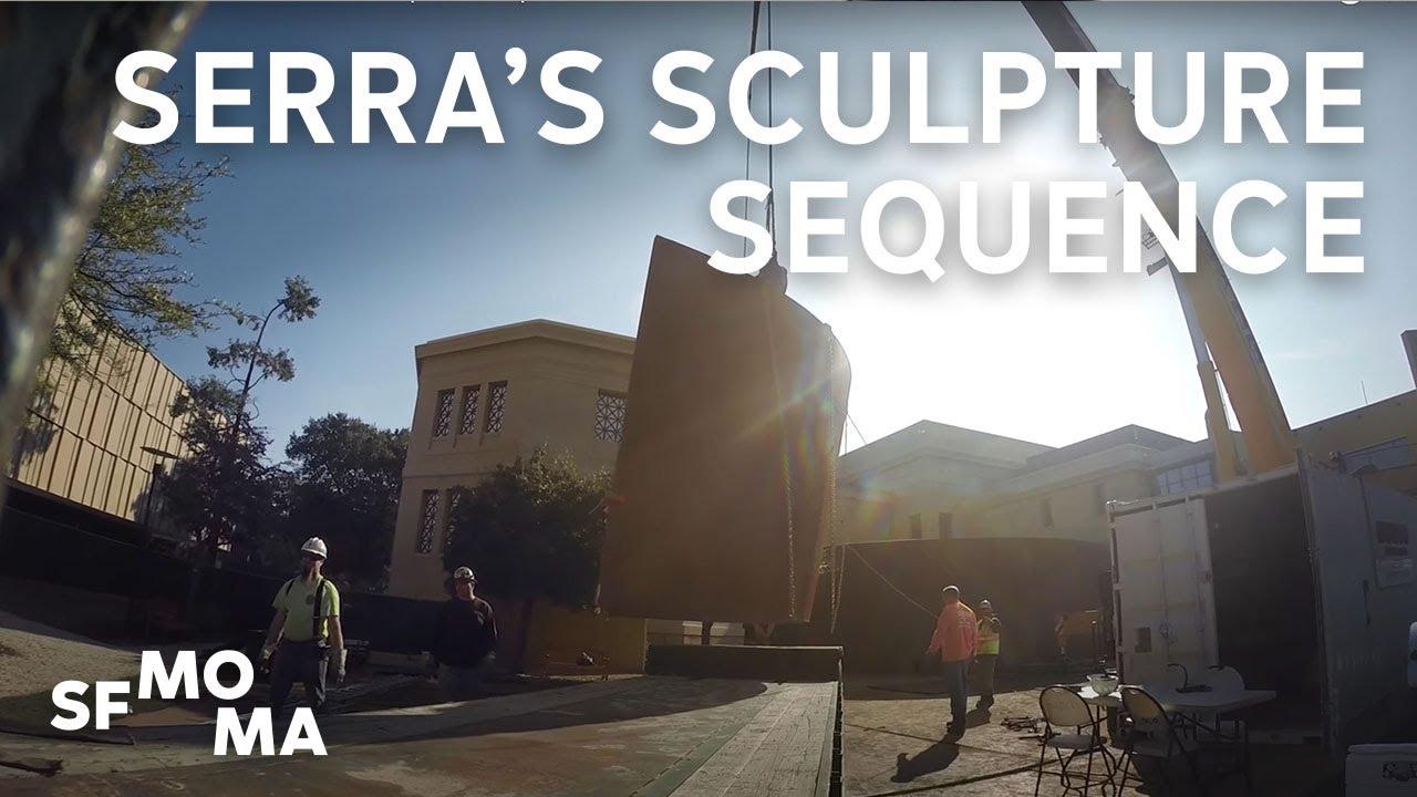 Installation of Richard Serra's Sculpture Sequence