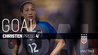 WNT vs. Thailand: Christen Press Goal - Sept. 15, 2016