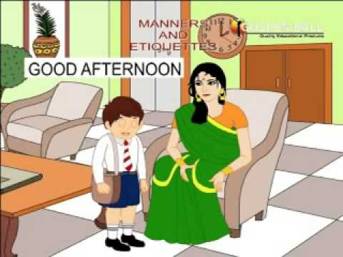 kids animation english study for children  manners and etiqeutters