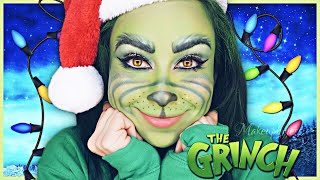 The Grinch Makeup 🎄 / Grinch Maquillaje 💚 / MakeupbyJessie