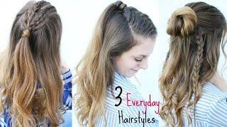 3 Everyday Half Up Hairstyles | Summer Hairstyles | Braidsandstyles12