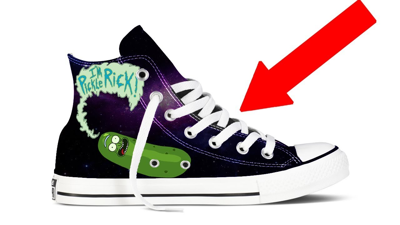 How To Make FAMOUS Pickle Rick Shoes!