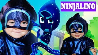 PJ Masks Gekko MEETS Night-Ninja Ninjalino with Sticky Splats!
