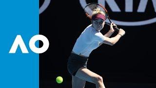 Elina Svitolina v Madison Keys third set highlights (4R)   Australian Open 2019