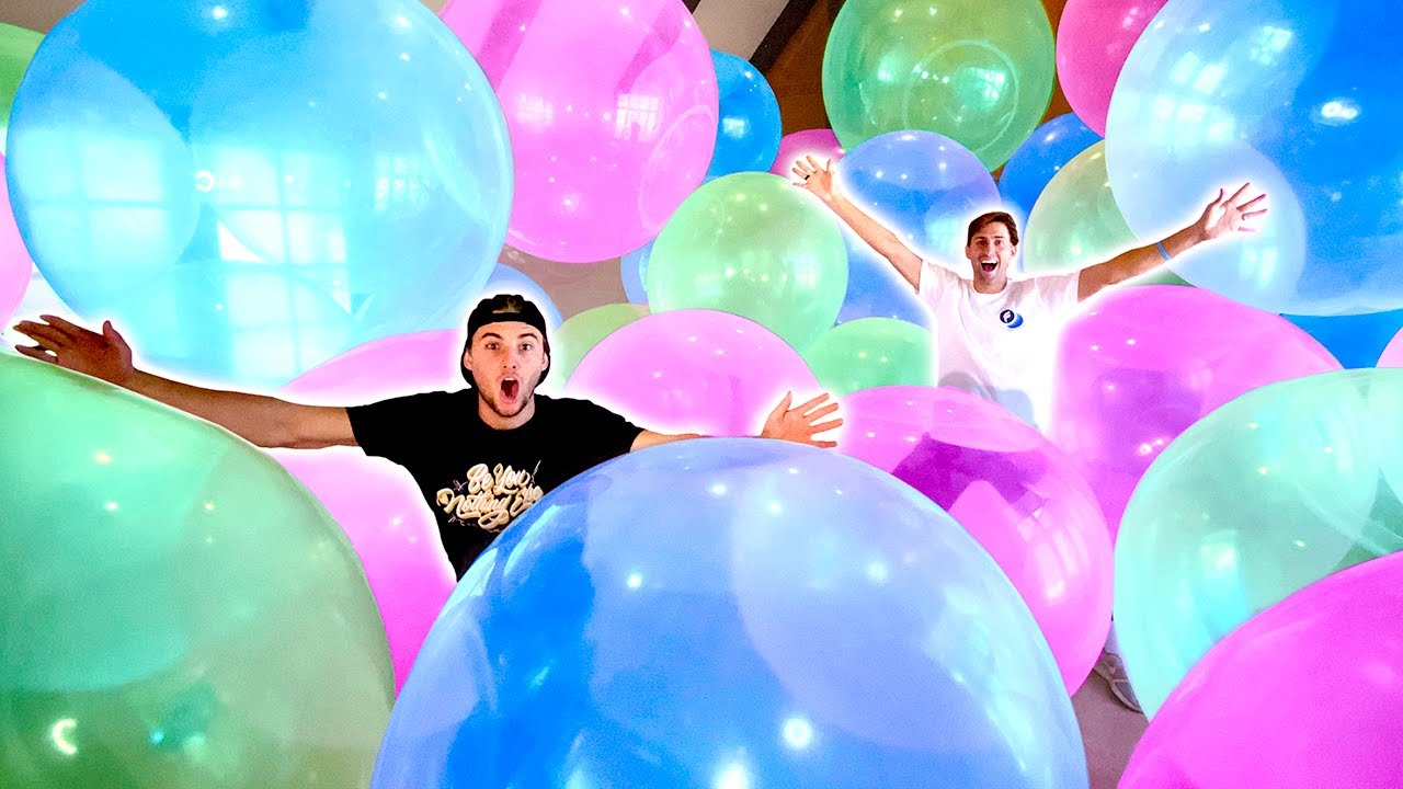 Filled Entire House With Wubble Bubbles!